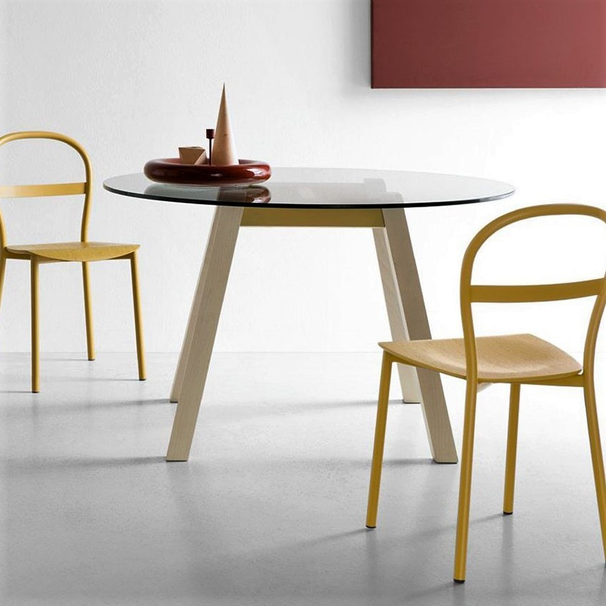 Calligaris Connubia T-Table - CB/4781-RD 110 - Tavolo rotondo in ...